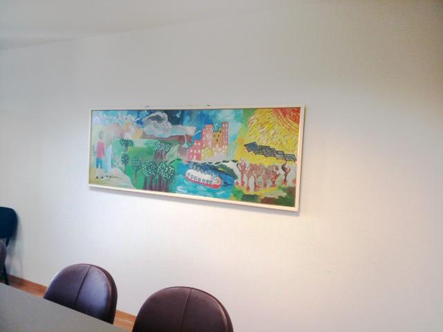 Πίνακας από συμμετέχοντες στα τμήματα ζωγραφικής της Δικεφίψ στο Υπουργείο Περιβάλλοντος και Ενέργειας